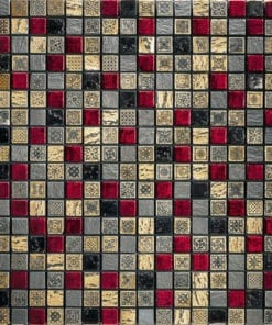PETRA FASHION Red Gold Black Mosaic