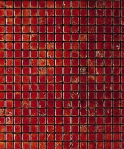 PETRA red mosaic tile