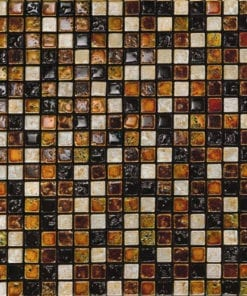 Petra Antiqua brown black stone mosaic