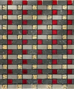 Red Grey Stone Mosaic