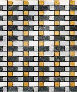 Black White Yellow Stone Mosaic