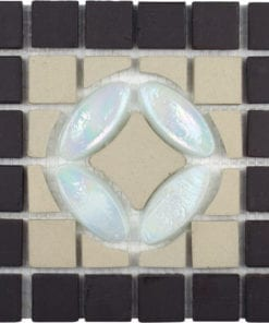 While opalescent stone mosaic