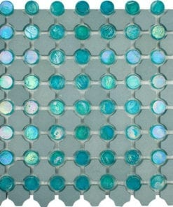 Disc Blue Stone Tile Mosaic