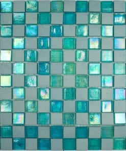 Blue Green Stone Glass Mosaic