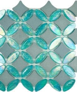 Aquamarine glass mosaic