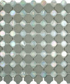 Beige Stone Clear Glass Mosaic