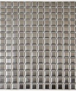 shiny square metal mosaic tile