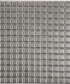 square textured metal mosaic