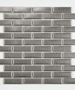 Metal finish glass mosaic