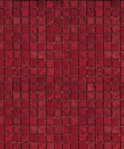 Ruby Red Glass Mosaic Tile