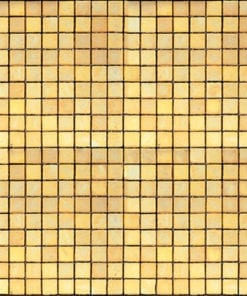 Yellow Square Mosaic Glass Tile