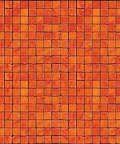 Orange Square Mosaic Glass Tile