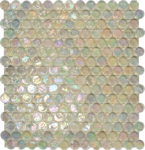 Round Clear Translucent Glass Mosaic
