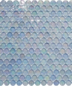 Round Clear Glass Mosaic