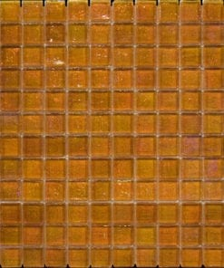 Amber Square Glass Mosaic