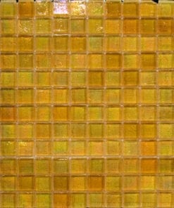 Yellow Glass Square Mosaic tile