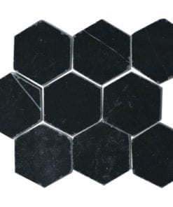Marble hexagon Nero